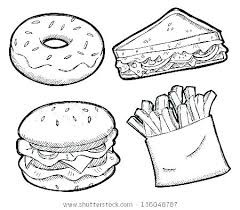 Healthy Foods Coloring Pages Healthy Food Coloring Pages Free