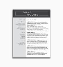 Unique Resume Template Free Professional Design Resumes Awesome