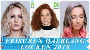Frisurentrends Damen Locken Halblang 2018 Youtube