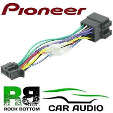 pioneer deh 1800ub model car radio stereo 16 pin wiring harness image is loading pioneer deh 1800ub model car radio stereo 16
