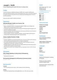 What Is Needed For A Modern Resume Free Cv Templates You Can Edit And Download Easily