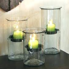large glass candle holders large candle holders tall glass extra large glass hurricane candle holders