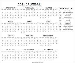 2021 calendar usa holidays 2021
