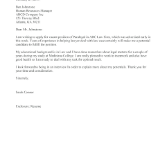 Law Cover Letter Template