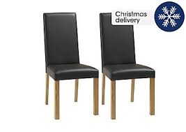 furniture village dining chairs. save £80. compton pair of oak upholstered dining chairs furniture village