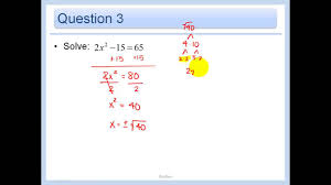 4 5 solving quadratic equations by finding square roots