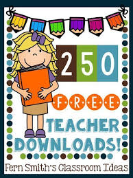 250 FREE Teacher Downloads! | Teacher downloads, Fern smith's classroom  ideas, Free teacher