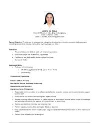 Sample Job Resume Objective Menu And Resume