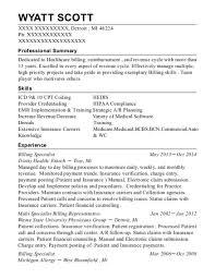 Resume Objective For Medical Billing Best Of Best Multi Specialist Billing Representative Resumes ResumeHelp