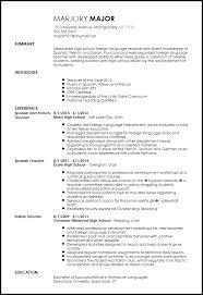 Sample Resume For Foreign Language Teachers Y Homework Helpline