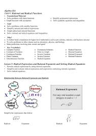 algebra iia unit v rational and