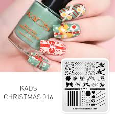 Happy Design Nails Hours Us 1 85 63 Off Christmas Nail Stamping Plates Festival Decoration Design Nail Art Stamp Templates Bow Knot Gift Heart Pattern Manicure Stencil On