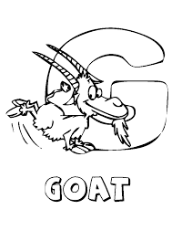 Small Picture Goat Animal Coloring Pages Alphabet Alphabet Coloring pages of