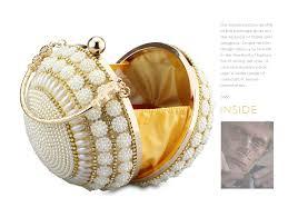 <b>Chaliwini Women's</b> Pearl Beaded <b>Evening Bags</b> Pearl Beads Clutch ...