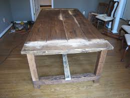 rustic dining table diy photo - 1