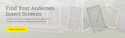 find your andersen window and door screens today