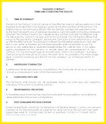 Simple Service Contract Simple Service Contract Template Doc