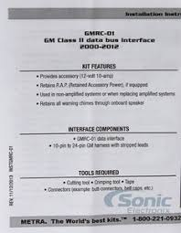 axxess gmrc 01 (gmrc01) non amplified, non onstar interface Lc Gmrc 01 Just The Wire Harness product name axxess gmrc 01