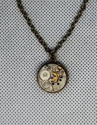 small steampunk double sided pendant