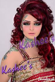 bridal mehndi and hairstyling by kashee s curly bridal hairstyle