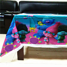 <b>108cm*180cm Trolls Party</b> Supplies Table Cloth Favors Kids Boy ...