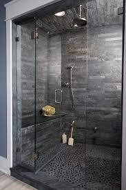 Modern bathroom shower design Remodel Dark Grey Pebble Floor Ideas Modern Bathroom Shower Next Luxury Top 50 Best Modern Shower Design Ideas Walk Into Luxury