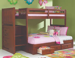 Bunk bed with stairs for girls Youth Discovery World Furniture Twin Over Full Merlot Staircase Bunk Bed Kfs Stores Discovery World Furniture Twin Over Full Merlot Staircase Bunk Bed