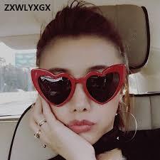 2018 <b>New Fashion Love Heart</b> Cat Eye Sunglasses Women Brand ...
