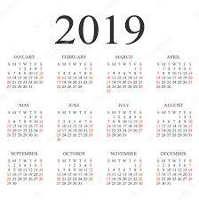 Calendar Year 2019 Printable Calendar For Next Year 2019 Printable Coloring Page For Kids
