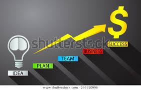Money Chart Vector Illustration Lamp Idea Stock Vector
