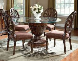 round dining room table sets. Dining Room Sets Round Table High Gloss Finish Black Wooden Bullnose Edge Top Classy Dark Brown