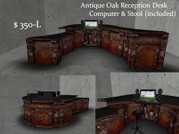 Antique Oak Reception Desk