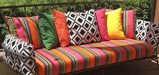 custom sunbrella cushions. Perfect Cushions Custom Sunbrella Cushions A Rainbow Of Sunbrella Pillows Brightens Backyard  Retreat Fmeecve And L