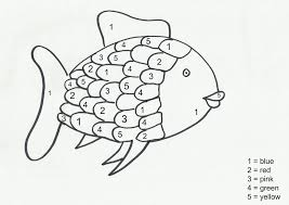 Small Picture Rainbow Fish Coloring Pages Preschoolers anfukco