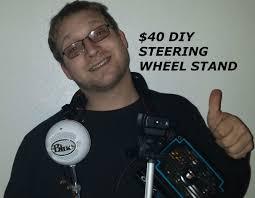 40 diy steering wheel stand