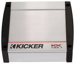 kicker amplifiers kicker car amplifiers best buy kicker kx series 400w class d mono amplifier built in crossovers silver