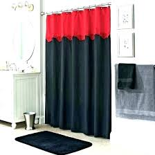 red black shower curtain and bathroom decorating ideas blue decor gray fantasy curt bath rugs