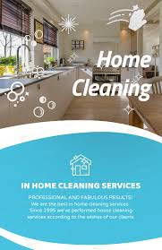Cleaning Brochure Customizable Flyer Template For Cleaning Services 283e
