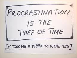 procrastination is the thief of time rdquo com image