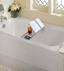 review of toilettree stainless steel bathtub caddy