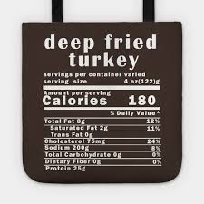 Turkey Size Chart Servings Deep Fried Turkey Nutrition Facts Thanksgiving Thanksgiving Day T Shirt