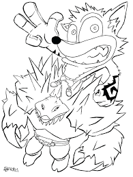 Crash Bandicoot Coloring Pages Zupa Miljevcicom