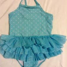 Best Baby Blue Little Girls Tutu Bathing Suit From Target Size 3t ...