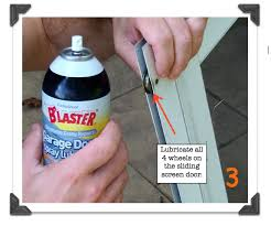 how to lubricate a garage doorSliding Screen Doors How to Remove Clean  Tune in Under 10 Minutes