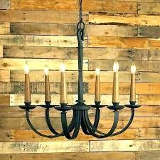 outdoor candle chandelier faux pillar chandeliers modernized rustic lighting flameless c