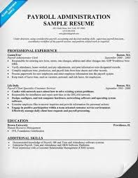 Here Is Download Link For This Payroll Administration Resume