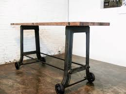 industrial furniture wheels. This Collection Of Industrial Furniture Is Full Gorgeous Wood Designs Accented By Striking Metal Pedestals, Legs And Drawers. Reclaimed Seared Wheels R