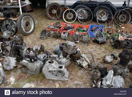 vintage motorcycle engines and spare parts at the veterama