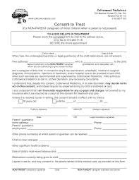 Child Medical Consent Form For Grandparents Free Medical Consent Form For Grandparents Templates At