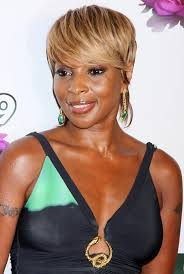 mary j blige short haircut chic haircut for women